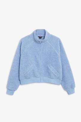 Monki Teddy raglan jacket
