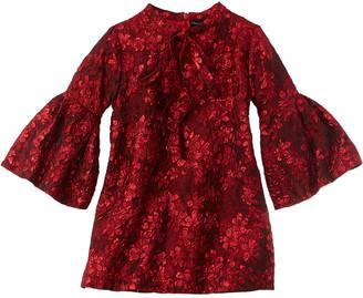 Oscar de la Renta Metallic Jacquard Silk-Blend Dress