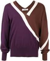 Sulvam color-block knit sweater