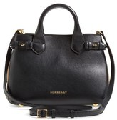 Burberry 'Small Banner' Leather Tote - Black