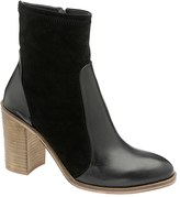Ravel Block Heel Leather Boots