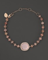 Meira T 14K Rose Gold Rose Quartz and Pink Opal Bead Bracelet with Diamonds