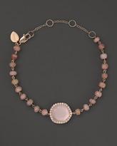Meira T 14K Rose Gold Rose Quartz and Pink Opal Bead Bracelet with Diamonds