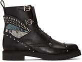 Fendi Black Studded Biker Boots