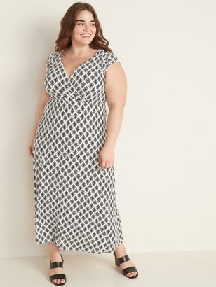 Old Navy Waist-Defined Plus-Size Wrap-Front Maxi Dress