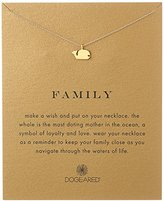"Dogeared Reminder ""Family"" Gold-Plated Sterling Silver Whale Pendant Necklace, 18"""
