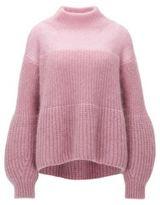 HUGO BOSS Mohair Chunky Knit Sweater Frieza L Purple