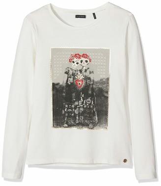 Ikks Junior Girl's Tee Shirt Ml Tete De Mort Couronnees T