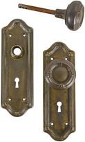 Rejuvenation Worn Brass Plated Classical Revival Door Knob Set