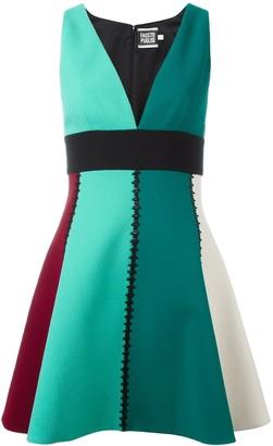 Fausto Puglisi V-Neck Panelled Mini Dress