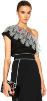 Peter Pilotto Satin One Shoulder Lace Top