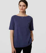 LOFT Cotton Boatneck Tee