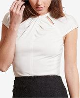 Lauren Ralph Lauren Cutout-Neckline Jersey Shirt