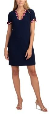 Trina Turk Flourish Scalloped Embroidered Dress