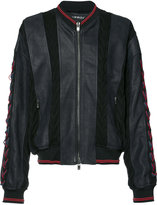 Y/Project Y / Project - panelled bomber jacket - men - Cotton/Calf Leather/Acetate - 46