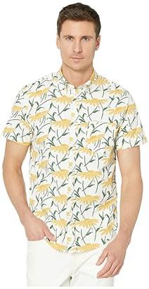 J.Crew Organic Short Sleeve Stretch Secret Wash Spring Daisy (Spring Daisy White/Yellow) Men's Clothing