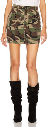 Saint Laurent Pocket Mini Skirt in Vintage Camouflage | FWRD