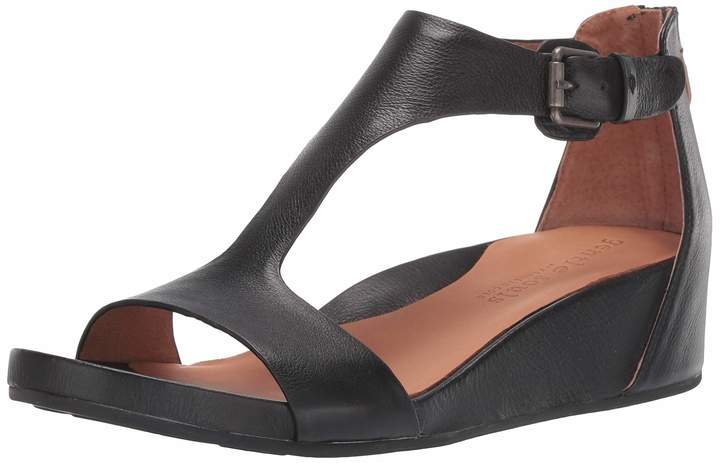 Gentle Souls by Kenneth Cole Women's Gisele T-Strap Wedge Sandal Sandal