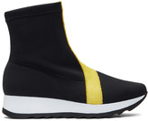 Won Hundred Black Ines Sock High-Top Sneakers