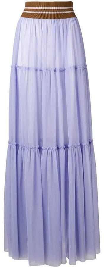 Circus Hotel paneled tulle skirt