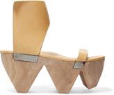 Rick Owens Textured-leather platform sandals
