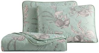 Mhf Home MHF Home Simone Seashell Seafoam Quilt Set, Full/Queen