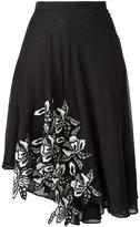 No.21 asymmetric skirt - women - Silk/Cotton/Polyester - 40