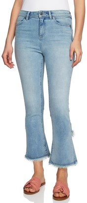1 STATE Tulip Hem Skinny Jeans