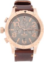 Nixon The 48-20 Chronograph Leather Watch