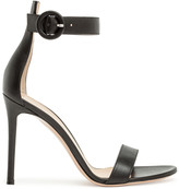 Gianvito Rossi Portofino 105 black leather sandal