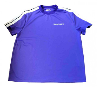 Palm Angels Purple Polyester T-shirts