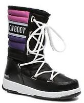 Moon Boot Kids's W.E. Quilted Jr Wp Lace-up Boots in Black