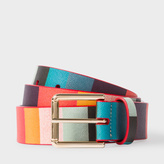 Paul Smith Men's 'Artist Stripe' Print Leather Belt