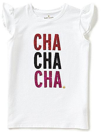 Kate Spade Big Girls 7-14 Cha Cha Cha Ruffle-Sleeve Top