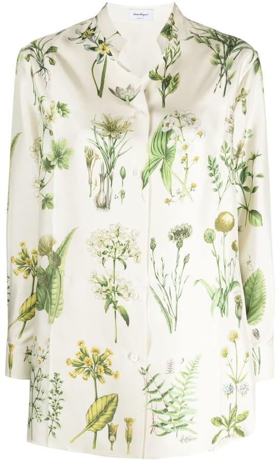 Salvatore Ferragamo Botanical Print Shirt