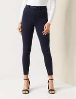 Thumbnail for your product : Forever New Zoe Mid-Rise Ankle Grazer Jeans - Navy Sateen - 4