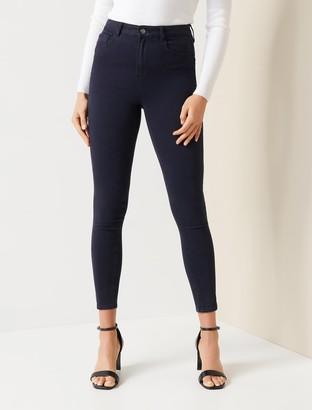 Forever New Zoe Mid-Rise Ankle Grazer Jeans - Navy Sateen - 4