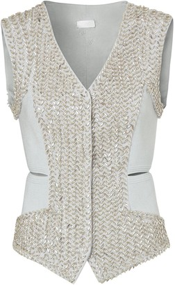 Burberry Crystal-Embellished Waistcoat