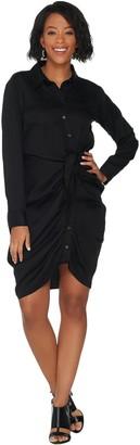 Laurie Felt Tied Front Blouse Dress