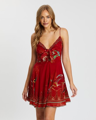 Camilla Short Dress with Tie Front