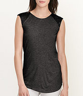 Lauren Ralph Lauren Beaded Cap Sleeve Top