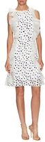 Oscar de la Renta Lace Ruffle Fit And Flare Dress