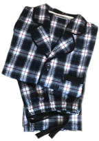 Mini Lunn Men's Personalised Navy Brushed Cotton Check Pyjamas