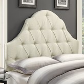 Three Posts Kadlec Upholstered Panel Headboard Size: Queen, Upholstery: Beige