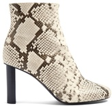 Joseph Snake-skin effect ruched leather ankle boots