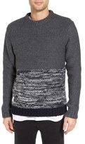 NATIVE YOUTH Colorblocked Polar Knit Sweater