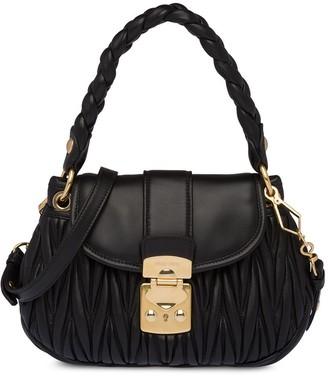 Miu Miu Matelasse leather mini bag