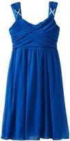 Ruby Rox Kids Girls 7-16 Cross Front Mesh Dress
