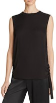 Vince Rouched Side Tie Silk Tank