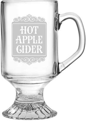 Susquehanna Glass Hot Apple Cider Set Of Four 10Oz Footed Mugs